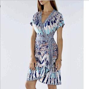 Bcbg MaxAzria Averey Kimono-Sleeve Wrap Dress